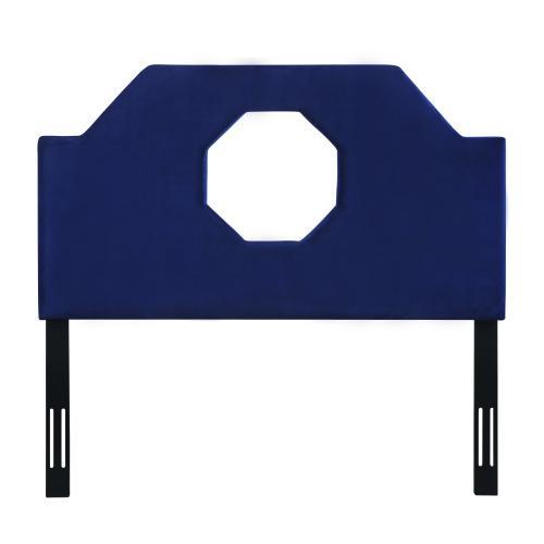 Product Image - Noctis King Headboard in Navy Velvet