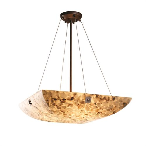 """18"""" Pendant Bowl w/ LARGE SQUARE W/ POINT FINIALS"""