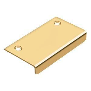 """Deltana - Drawer, Cabinet, Mirror Pull, 3"""" x 1-1/2"""" - PVD Polished Brass"""