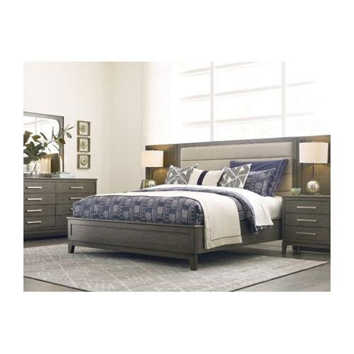 Ross Queen Upholstered Panel Bed - Complete