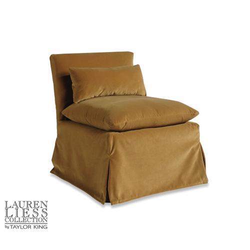 Taylor King - Friend Slipcovered Slipper Chair