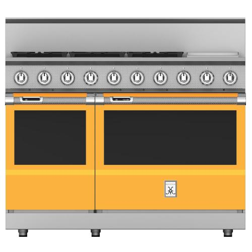 "48"" 5-Burner Dual Fuel Range with 12"" Griddle - KRD Series - Sol"
