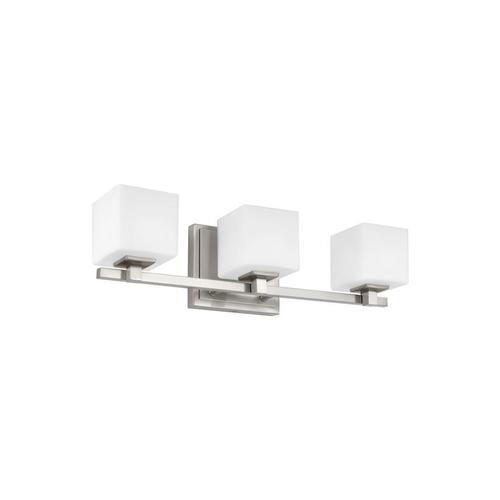 Sutton 3 - Light LED Vanity Satin Nickel Bulbs Inc