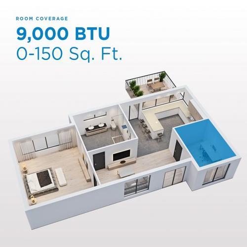 Danby - Danby 9,000 BTU (5,300 SACC) 3-in-1 Portable Air Conditioner