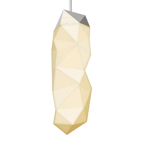 Sonneman - A Way of Light - Facets LED Pendant [Size=1-Light Large, Color/Finish=Satin Nickel]