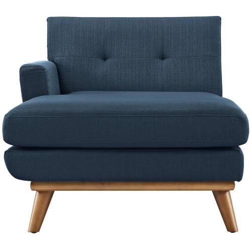 Modway - Engage Left-Facing Upholstered Fabric Chaise in Azure