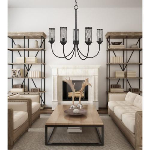 Cal Lighting & Accessories - Fulton Metal Chandelier With Mesh Metal Shade