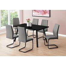 "DINING TABLE - 36""X 60"" / BLACK / BLACK METAL"