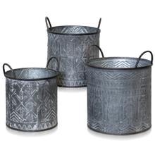 View Product - SET OF 3 metal pot