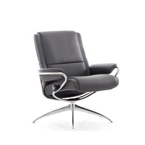 Stressless By Ekornes - Stressless Paris Low Back Swivel Recliner with High Star Base