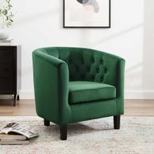 Prospect Performance Velvet Armchair in Emerald