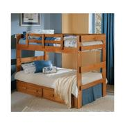 Heartland 2 x 6 Split Bunk Bed with options: Honey Pine, Twin over Twin Product Image