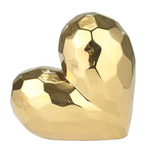Gold Ceramic Heart 11.5""