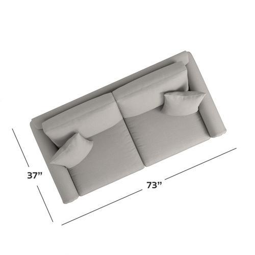 Bassett Furniture - Carolina Panel Arm Studio Sofa