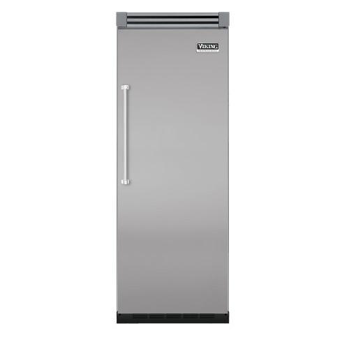 "Viking - Metallic Silver 30"" Quiet Cool™ All Refrigerator - VIRB Tru-Flush™ (Right Hinge Door)"