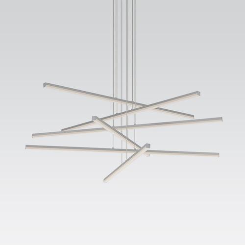 Sonneman - A Way of Light - Stix LED Pendant [Size=6-Arm, Color/Finish=Bright Satin Aluminum]