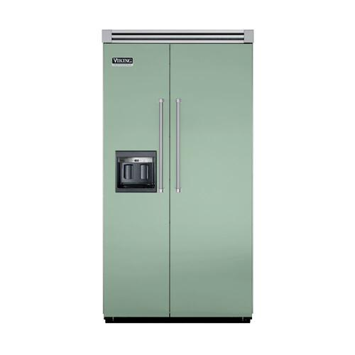 "Viking - Sage 42"" Side-by-Side Refrigerator/Freezer with Dispenser - VISB (Integrated Installation)"