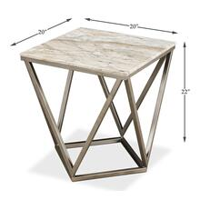 Trapezoid Side Table, Marble Top
