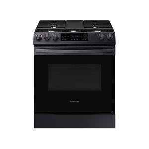Samsung Appliances6.0 cu. ft. Smart Slide-in Gas Range with Convection in Black Stainless Steel