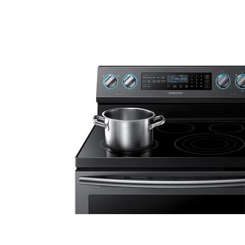 5.9 cu. ft. Freestanding Electric Range with True Convection & Steam Assist in Black Stainless Steel