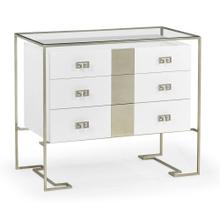 Silver Iron Chest of Drawers in Biancaneve