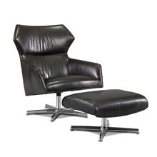 L3267-C3 Sebastian Leather Swivel Chair