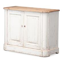 Antique Whitewash Sideboard, 2 Door