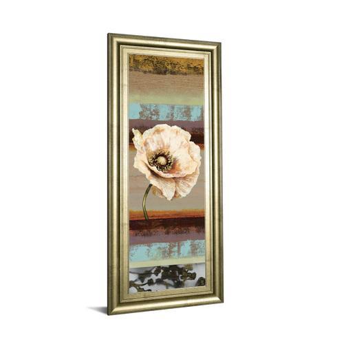 """Classy Art - """"Elemental Poppy Il"""" By Selina Werbelow Framed Print Wall Art"""