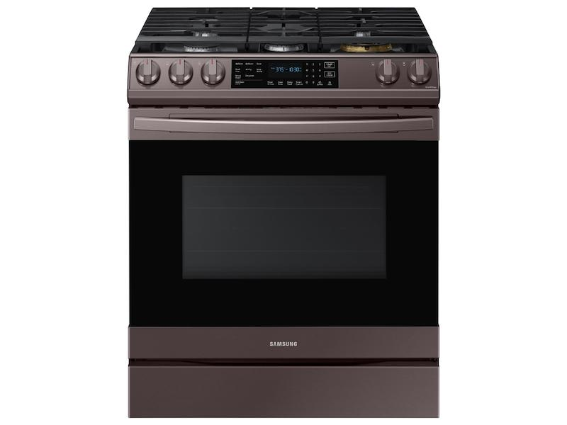 Samsung6.0 Cu Ft. Smart Slide-In Gas Range With Air Fry In Tuscan Stainless Steel