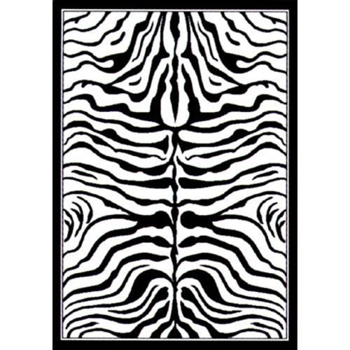 Medium - Safari Zebra Skin 5x8 Rugs