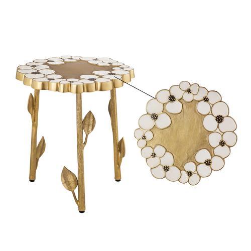 Tov Furniture - Flor Handpainted Side Table