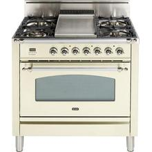 36 Inch Antique White Liquid Propane Freestanding Range