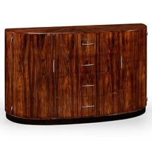 Art Deco demilune sideboard with stainless steel (High lustre)
