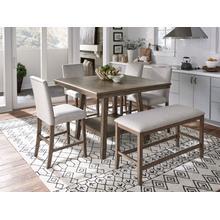 See Details - Halden 2-Pack Counter Height Upholstered Barstools, Brown