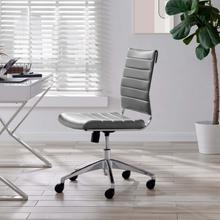 See Details - Jive Armless Mid Back Office Chair in Gray