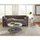 Wilshire - Round Coffee Table - White Sands Finish