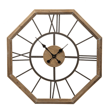 Hexagon Framed Wall Clock