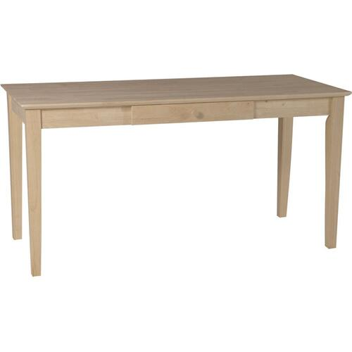 """Unfinished 60"""" Writing Table w/ Drawer"""