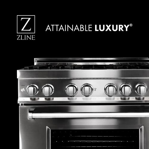 ZLINE 30 in. Professional 4.0 cu. ft. 4 Gas on Gas Range in Black Stainless Steel (RGB-30)