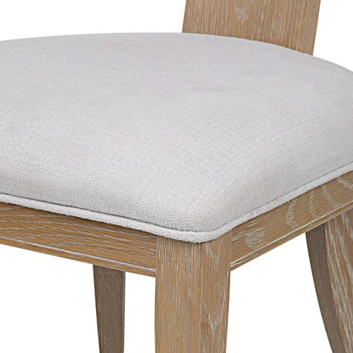 Idris Armless Chair, Natural
