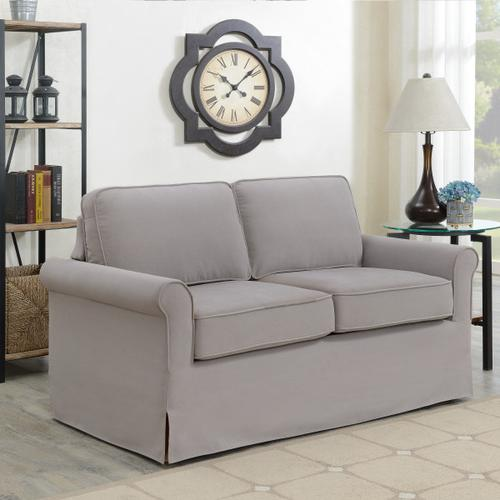 Modern Arm Slipcover Style Sofa in Storm Gray