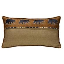 Ashbury Black Bear Lumbar Pillow - Black, Tan & Brown
