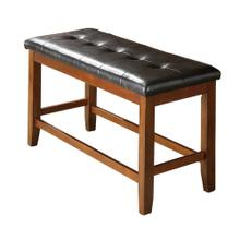 8750 BROWN Cushion Counter Height Bench