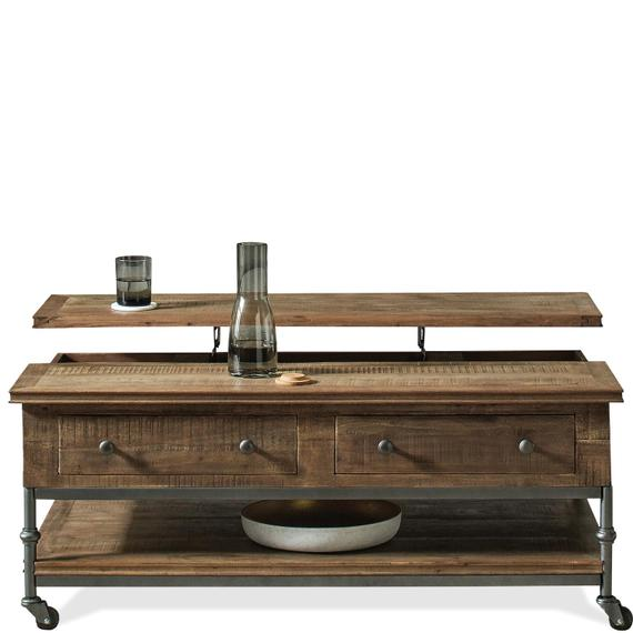 Riverside - Revival - Lift-top Coffee Table - Spanish Grey Finish