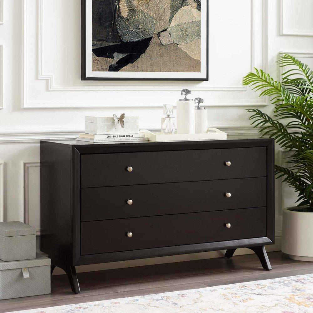 Providence Three-Drawer Dresser or Stand in Cappuccino