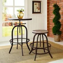 See Details - Collect Wood Top Bar Stool in Brown
