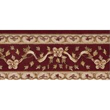 Ashton House Ribbon Trellis A01b Burgundy Border