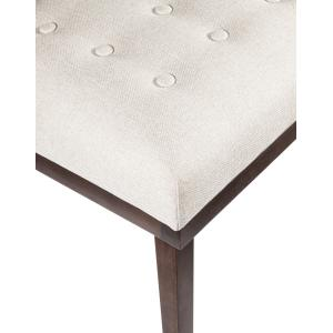 Accentrics Home - Mid-Century Modern Tufted Bench in White