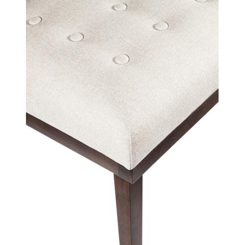 Mid-Century Modern Tufted Bench in White