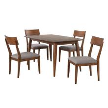 DLU-MC3660-C45-5P  5 Piece Dining Table Set  Padded Performace Fabric Seats